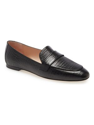 Stuart Weitzman payson croc embossed loafer