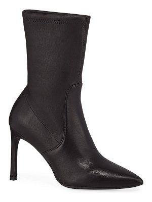 Stuart Weitzman Wren Leather Sock Booties