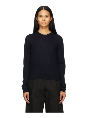 Studio Nicholson navy homes sweater