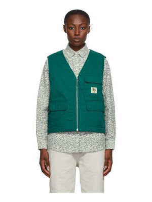 Stussy green insulated work vest