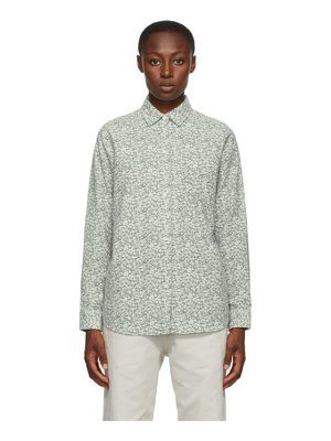Stussy off-white and grey flannel printed shirt