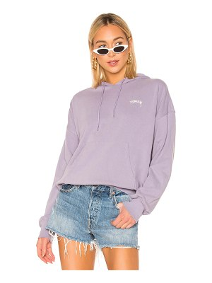 Stussy violet french terry hoodie