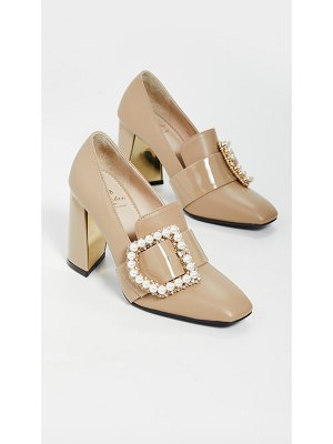 SUECOMMA BONNIE jewel buckle detailed pumps