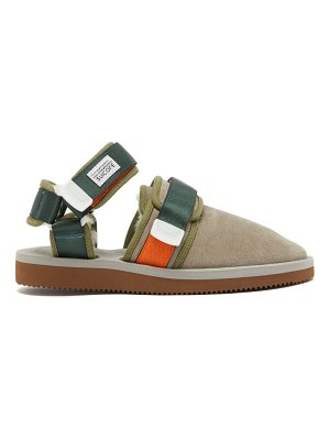 Suicoke nots-mab shearling-lined velcro-strap loafers