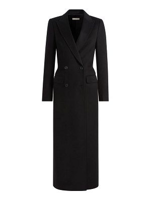 SUISTUDIO anna long double breasted wool coat