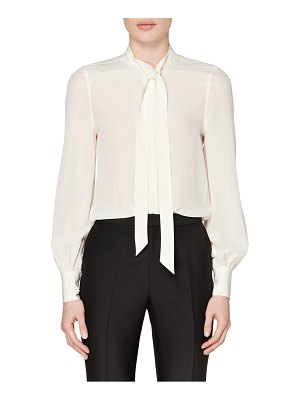 SUISTUDIO tie neck silk blouse