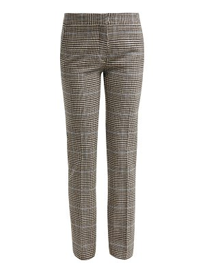 SUMMA prince of wales check wool blend trousers