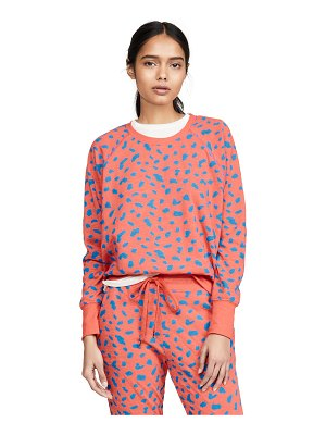 Sundry abstract dot fitted sweatshirt