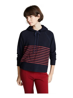 Sundry cropped stripes hoodie