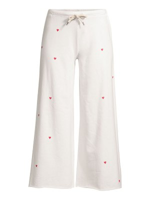 Sundry flare hearts cropped sweatpants