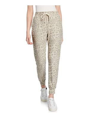 Sundry Leopard Drawstring Jogger Pants with Pockets