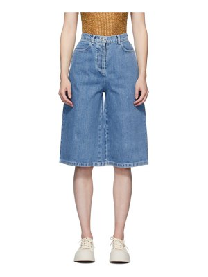 Sunnei blue denim shorts
