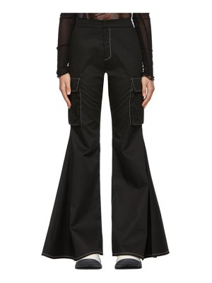 Sunnei flared cargo-fit trousers