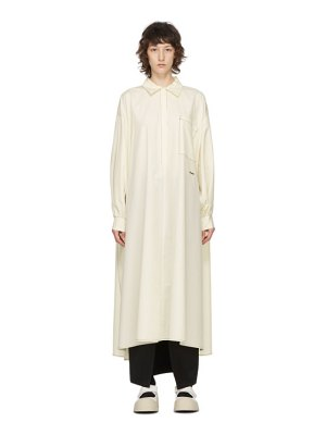 Sunnei off-white puffy sleeve long shirt dress