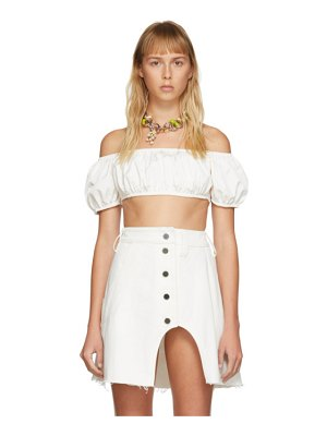 Sunnei short sleeve crop top
