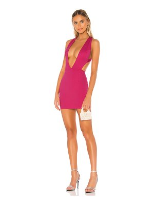 superdown ameliah plunge mini dress