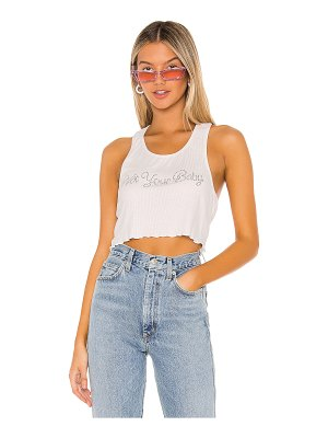 superdown bebe metallic crop tee