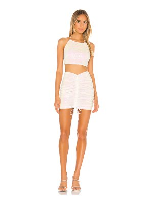 superdown desiree ruched skirt set