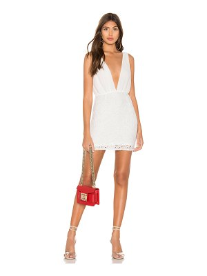 superdown emery plunge mini dress