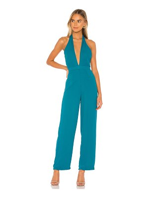 superdown kelly halter jumpsuit