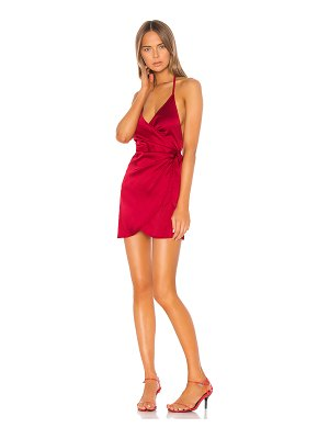 superdown kimber tie mini dress