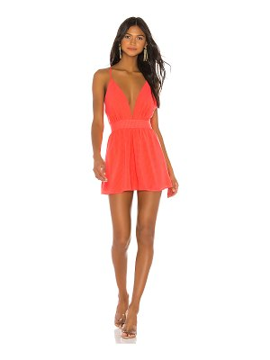superdown lani plunge mini dress