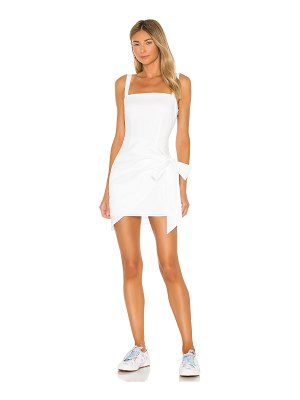 superdown macie wrap mini dress