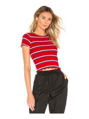 superdown nikkie striped crop tee