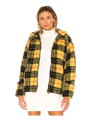superdown ria plaid teddy jacket