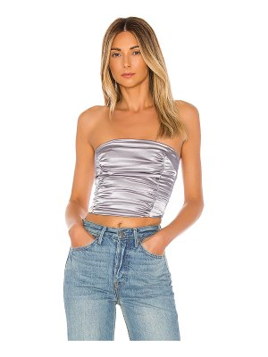 superdown steph ruched strapless top