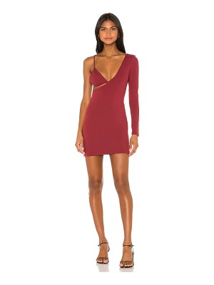 superdown tatiana asymmetic bodycon dress
