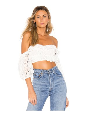 superdown tiff ruffle crop top