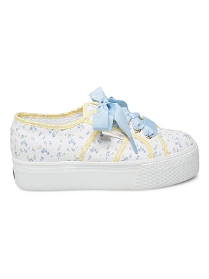 Superga x loveshackfancy floral platform sneakers