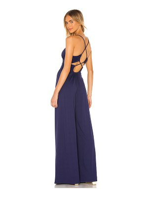 Susana Monaco thin strap ruched back jumpsuit
