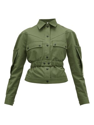 Symonds Pearmain belted cotton-gabardine jacket