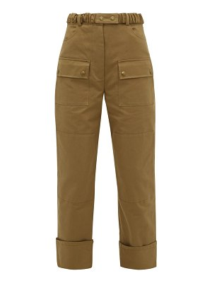Symonds Pearmain belted cotton-twill cargo trousers