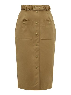 Symonds Pearmain belted cotton-twill pencil skirt