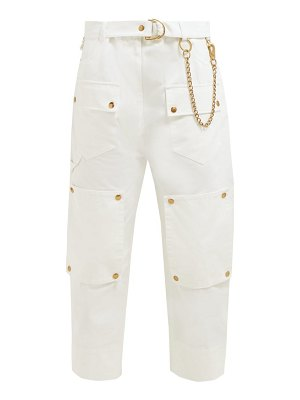 Symonds Pearmain chain embellished cotton cargo trousers