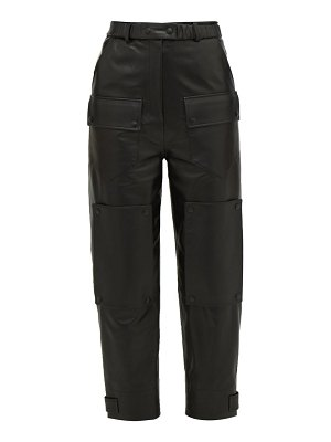 Symonds Pearmain high-rise leather cargo trousers
