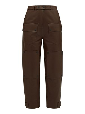 Symonds Pearmain panelled leather trousers