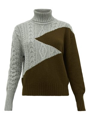 Symonds Pearmain zigzag wool roll neck sweater