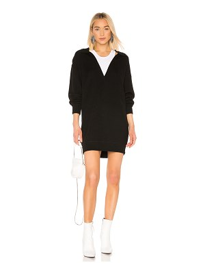 T by Alexander Wang bi layer collared tunic sweater