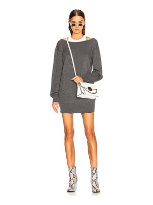 T by Alexander Wang Bi Layer Knit Dress