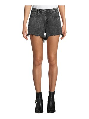 T by Alexander Wang Bite High-Rise Cutoff Denim Shorts