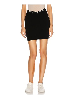 T by Alexander Wang bodycon logo mini skirt