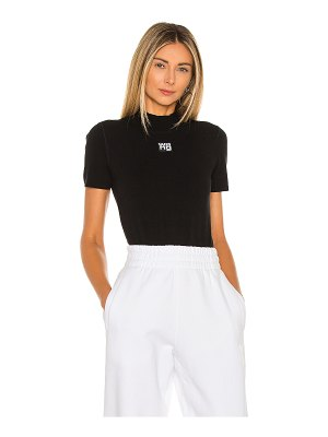 T by Alexander Wang bodycon short sleeve mock neck top