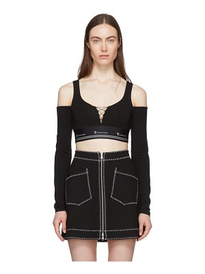 T by Alexander Wang Cold Shoulder Cropped T-shirt