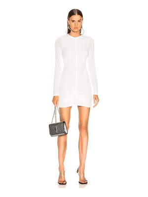 T by Alexander Wang Crepe Long Sleeve Dress