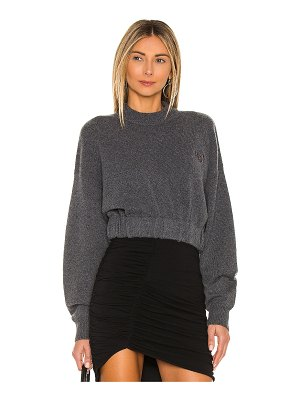 T by Alexander Wang cropped crewneck pullover
