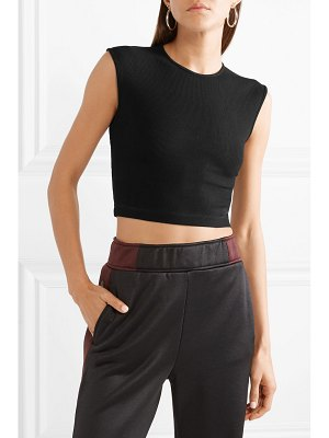 T by Alexander Wang cropped cutout ribbed-knit top